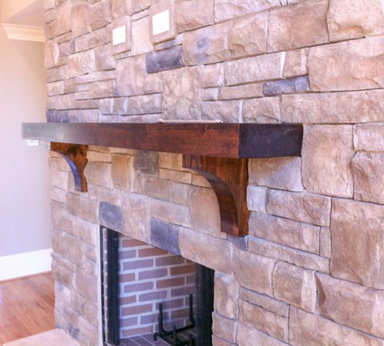 Timber Mantel Corbels Georgia Reclaimed Wood